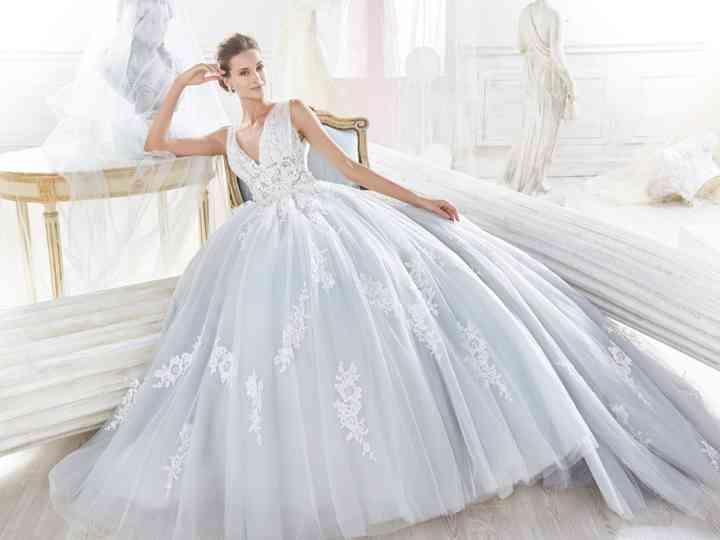 Vestiti Da Sposa Azzurri.30 Abiti Da Sposa Celesti Per Nozze Da Favola