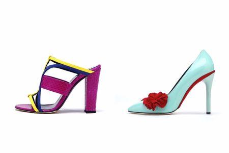 Scarpe per invitate colorate