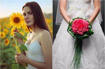 Bouquet da sposa con un fiore solo