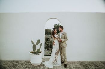 Nick e Vena: un matrimonio all'aperto in stile shabby chic