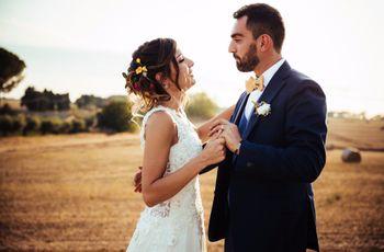 Due piccoli scout nel bosco travolti dalla magia dell'amore: le nozze di Giulia e Daniele