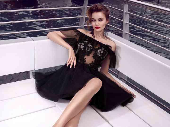 outlet store fcb33 f5379 20 abiti da cerimonia corti total black: classe, eleganza e ...
