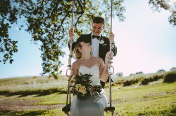 Natalie e Charlie: nozze bucoliche in stile country-chic