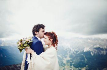 Toccare il cielo con un dito: le nozze ad alta quota di Serena e Antonio