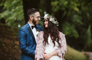 Letizia e Simone: spirito creativo per un matrimonio in stile bohémien