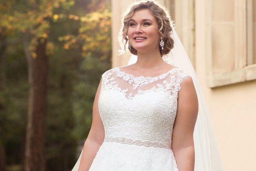 ffca9f34bb98 32 abiti da sposa per taglie forti  scegliete il vostro total look ...