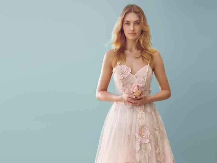 best cheap 5a158 38050 Abiti da sposa Blumarine 2018: romantica audacia floreale