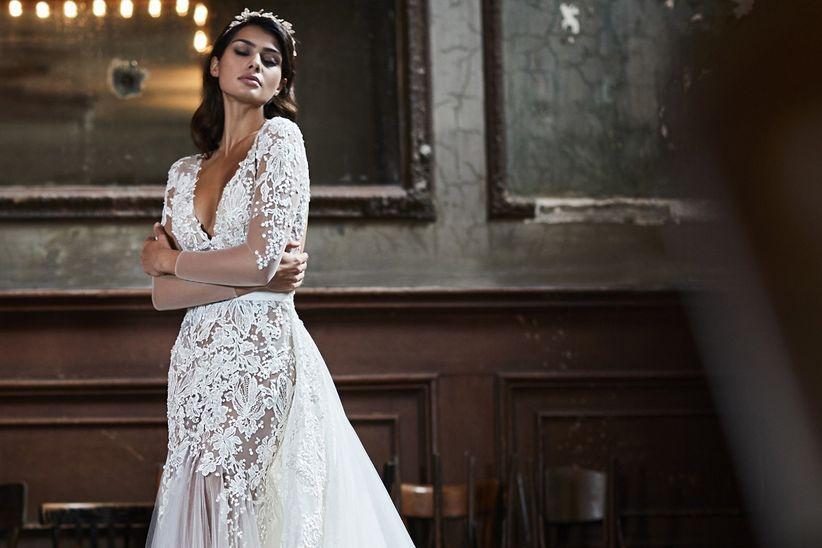 I 51 abiti da sposa in pizzo più belli per la stagione invernale 2ccdce94d62