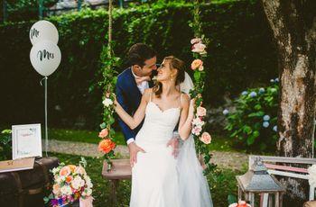 Da una semplice amicizia a una romantica storia d'amore: le nozze di Laura e Matteo