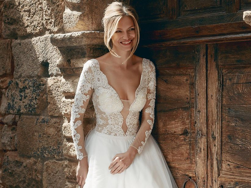 dc5c01209ba3 30 abiti da sposa in pizzo per stili diversi