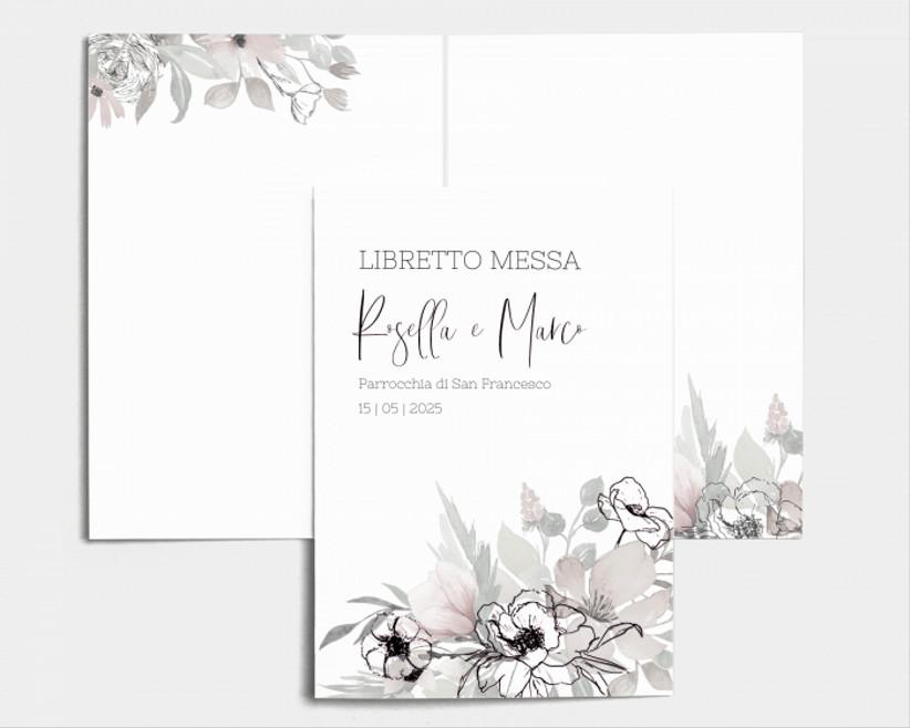 libretto messa con fiori