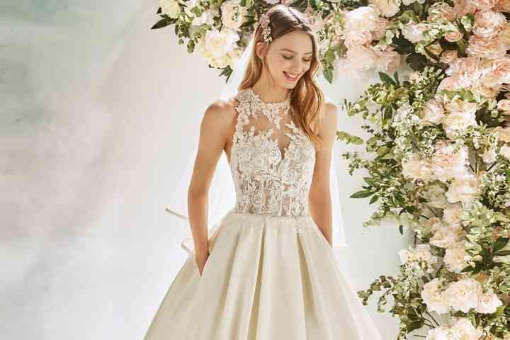 Vestiti Da Sposa Luccicanti.50 Abiti Da Sposa In Stile Principessa Una Favola Moderna