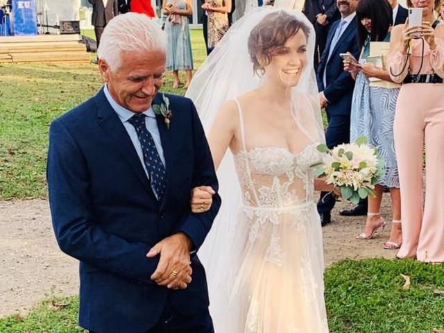 Il matrimonio di Camilla Filippi e l'abito da sposa creato per lei