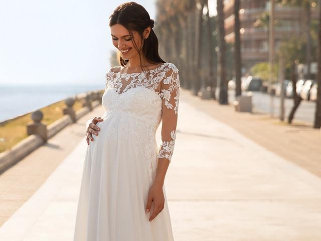 35 abiti da sposa premaman per un matrimonio in dolce attesa