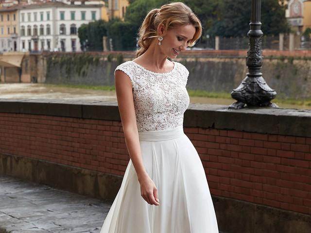 40 sensazionali abiti da sposa con scollo rotondo