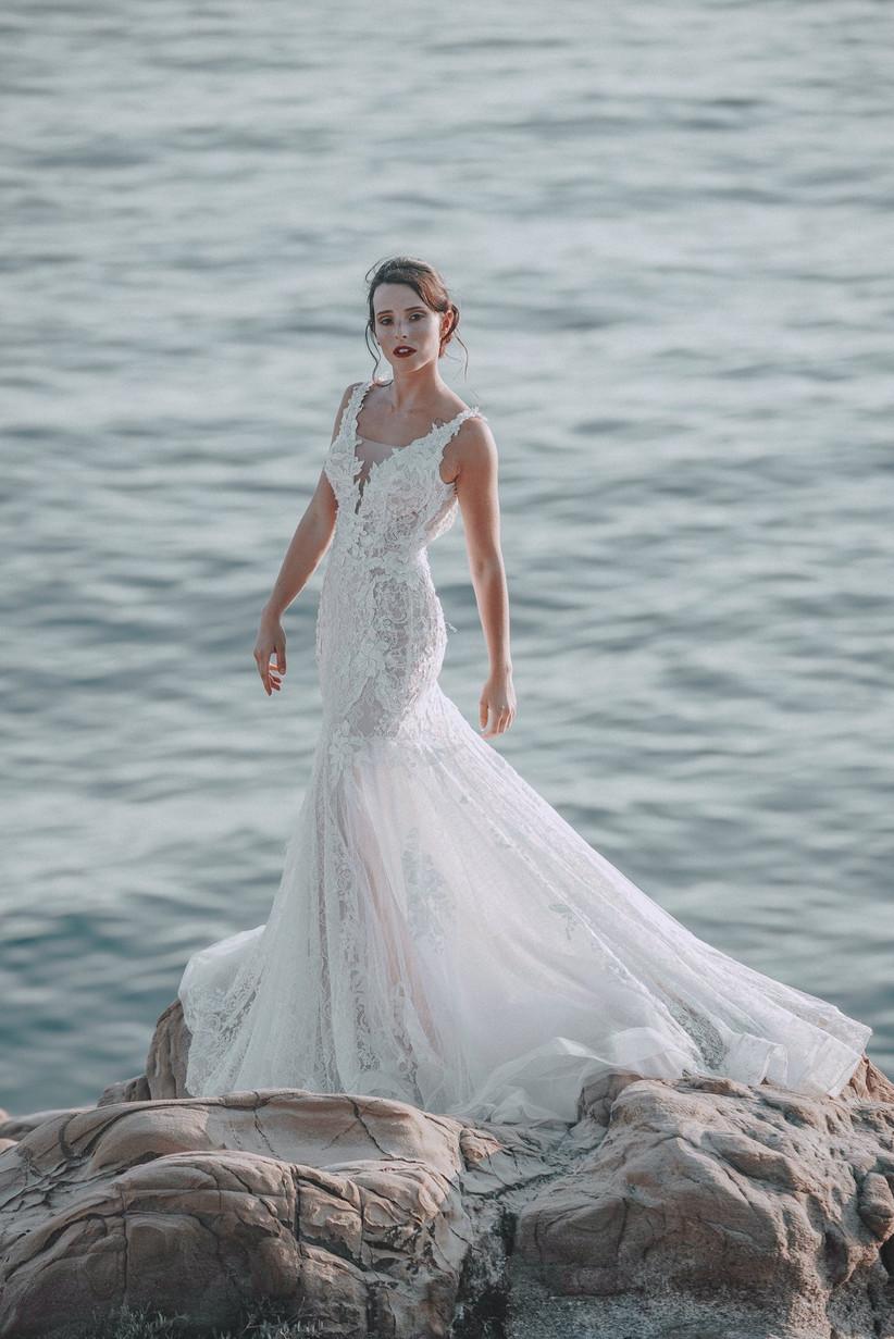 abiti da sposa scollo a v