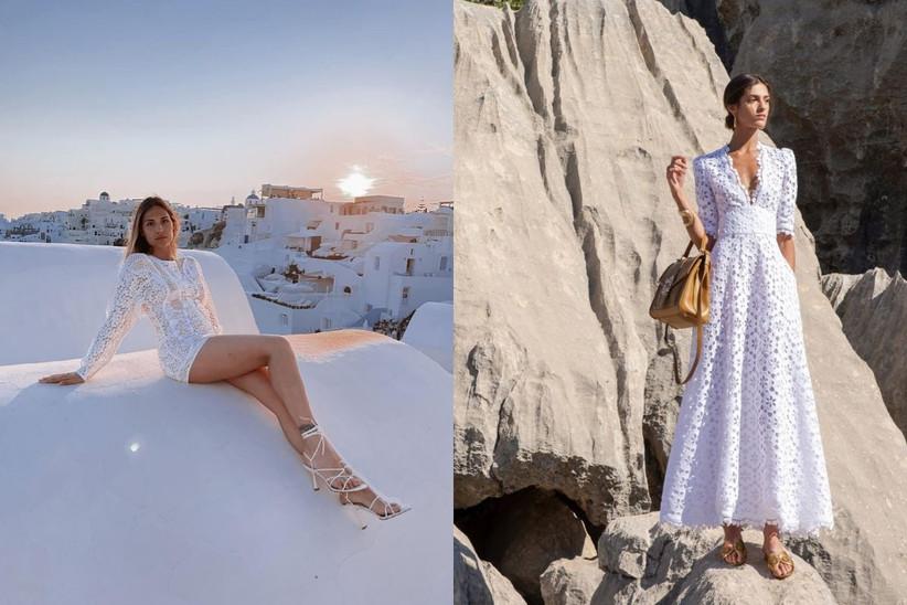 Beatrice Valli a Santorini