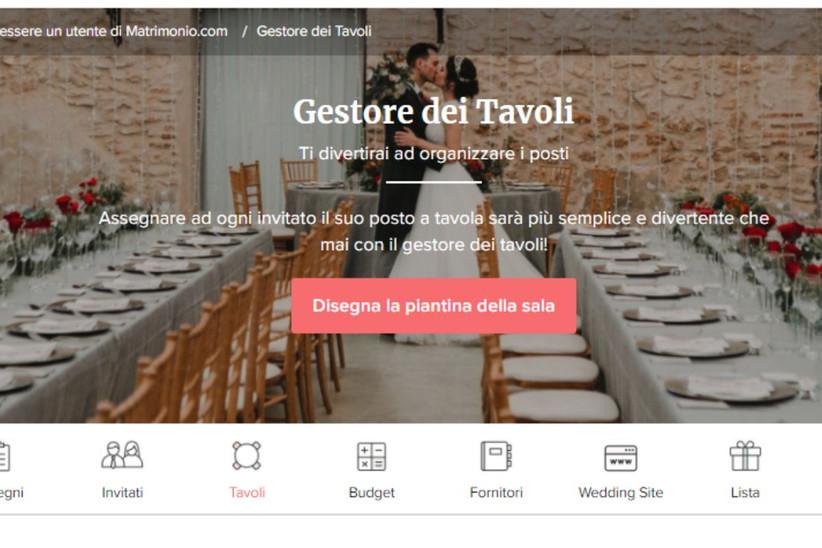 gestore dei tavoli matrimonio.com
