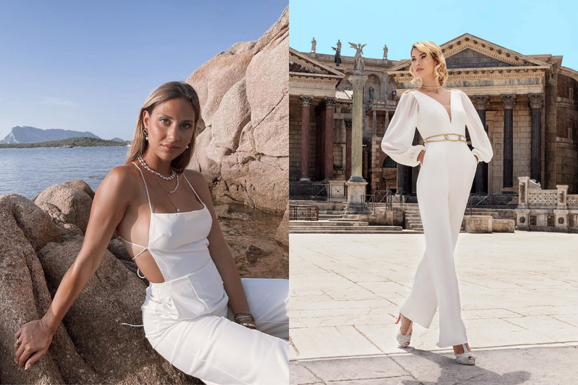 Beatrice Valli con outfit total white