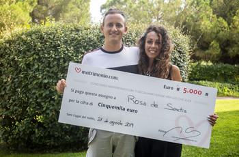 Rosa ed Enrico sono i vincitori della 77ª edizione del concorso di Matrimonio.com