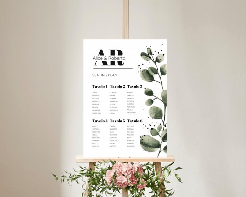 tableau de mariage con fiori
