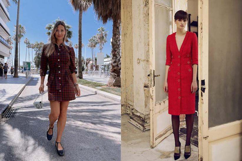 Beatrice Valli con vestito corto rosso