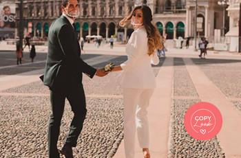 Look sposa per matrimonio civile: come copiare lo stile di Giorgia Palmas!
