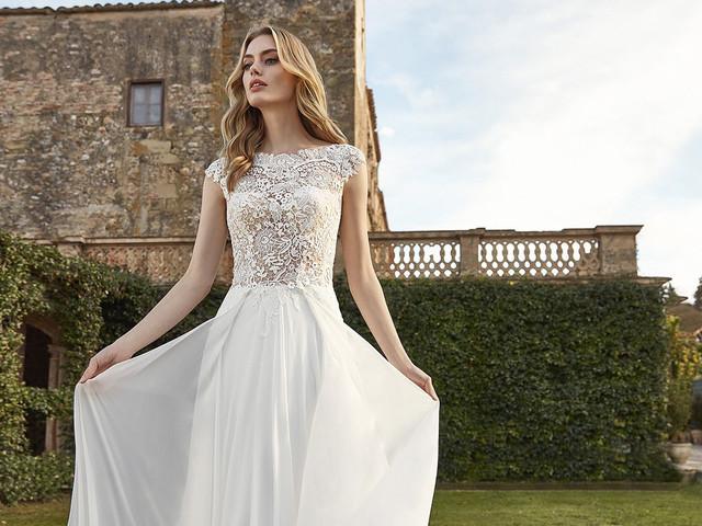 50 abiti da sposa con scollatura a illusione che ti faranno innamorare