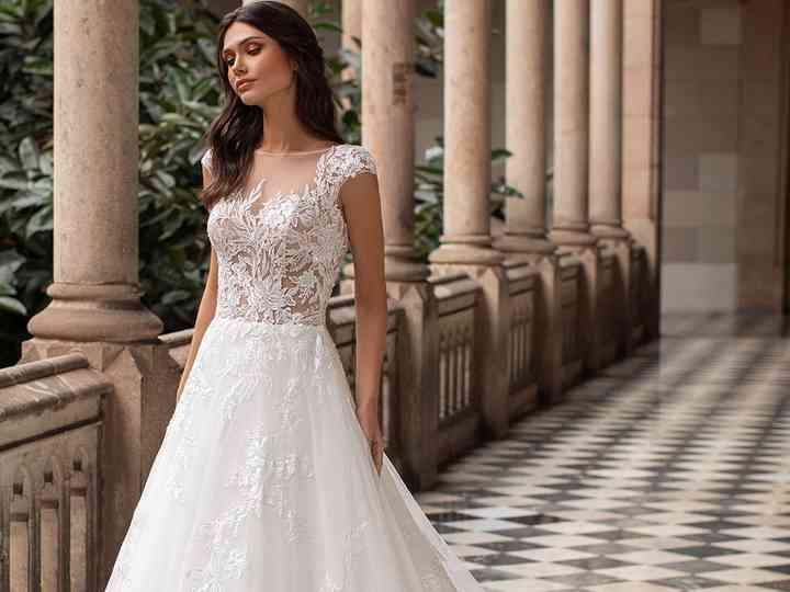 Favoloso 40 abiti da sposa con corpetto trasparente per un look super sensuale NC63