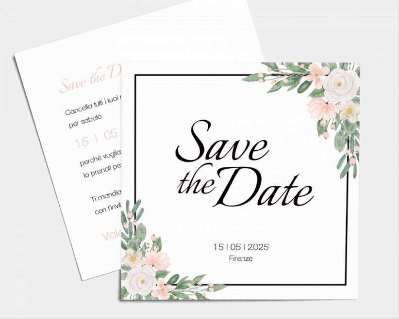 Save the date con fiori
