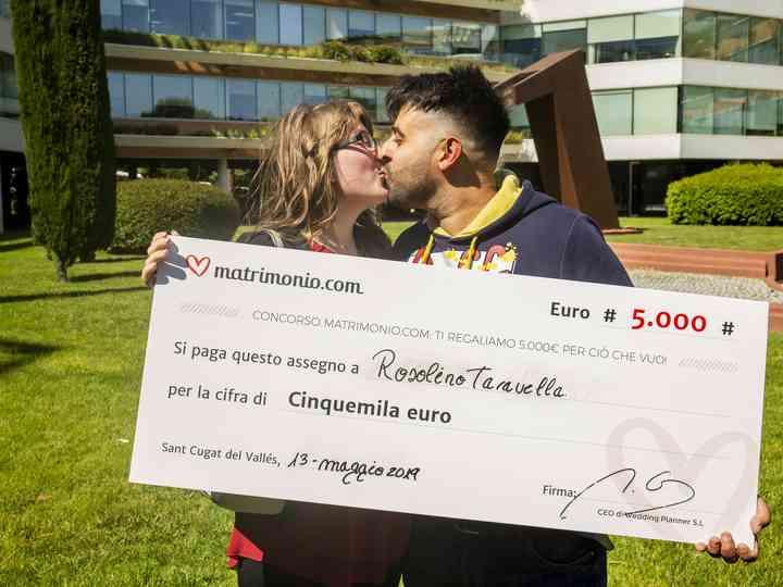 74ª edizione del concorso di Matrimonio.com: Rosolino e Doriana si aggiudicano 5000 euro!