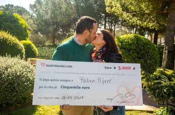 La 73ª edizione del concorso di Matrimonio.com regala 5000 euro a Fabio e Valentina