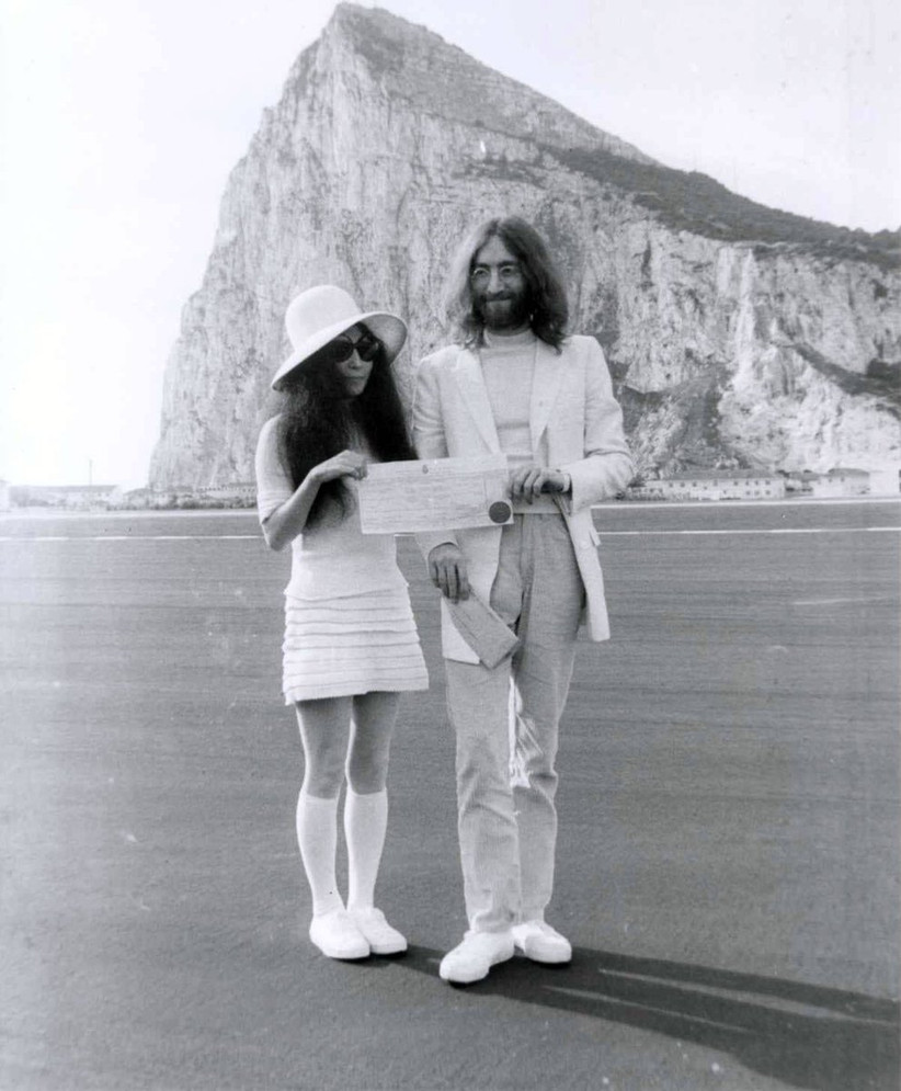 John Lennon e Yoko Ono durante il loro matrimonio