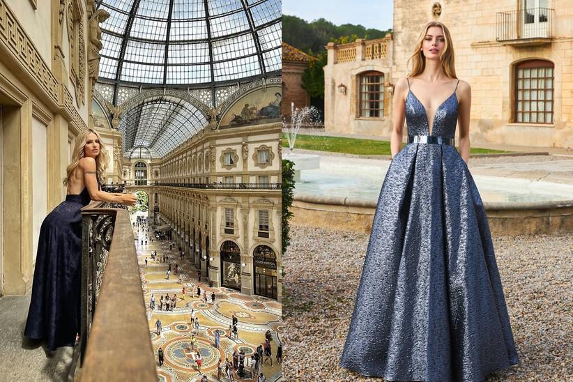 Michelle Hunziker in Galleria Vittorio Emanuele