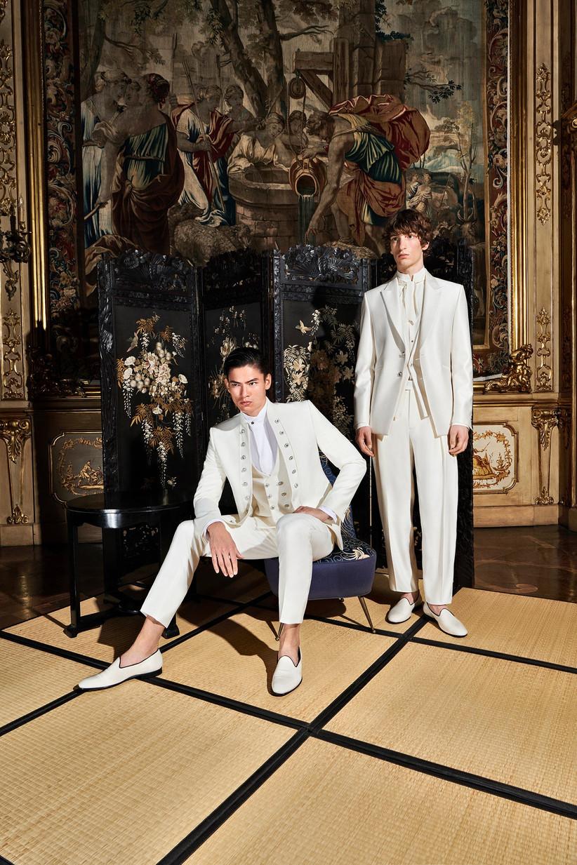 abito da sposo bianco