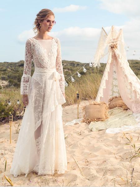 Vestiti Da Sposa Spiaggia.Matrimonio In Spiaggia 40 Abiti Da Sposa Per Un Look Marino Da Sogno