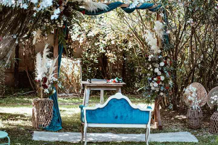 allestimento altare cerimonia simbolica