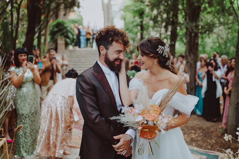 sposi durante rito civile