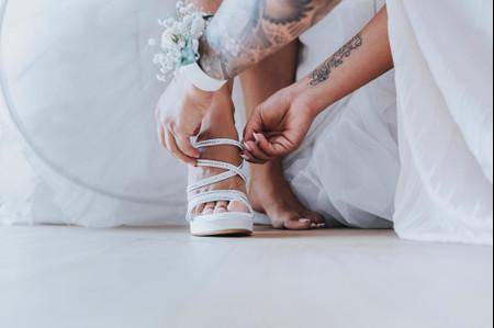35 scarpe da sposa con tacchi vertiginosi (solo per vere esperte!)