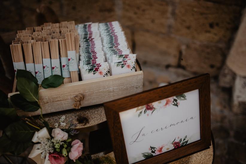 scatola con ventagli matrimonio