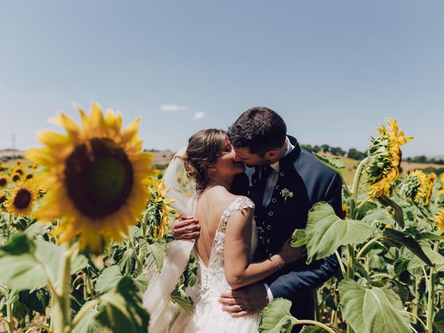 """Decorazioni matrimonio con girasoli: 10 modi per dare un tocco d'allegria al vostro """"Sì, lo voglio""""!"""