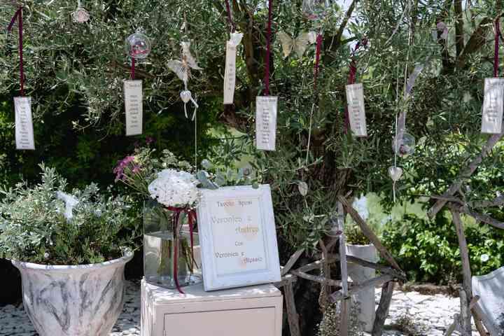 tableau de mariage all'albero