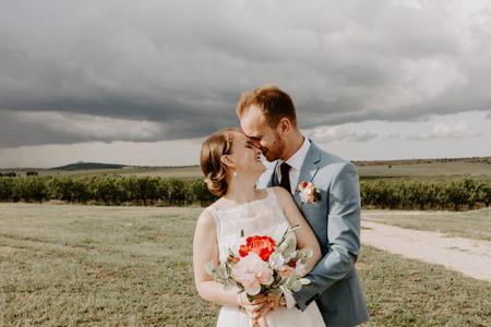 Le vostre nozze in rosso, celeste e bianco