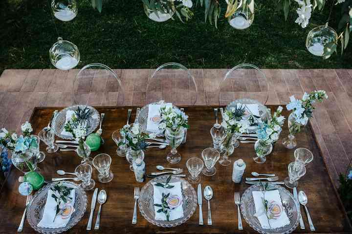 allestimento tavolo per matrimonio