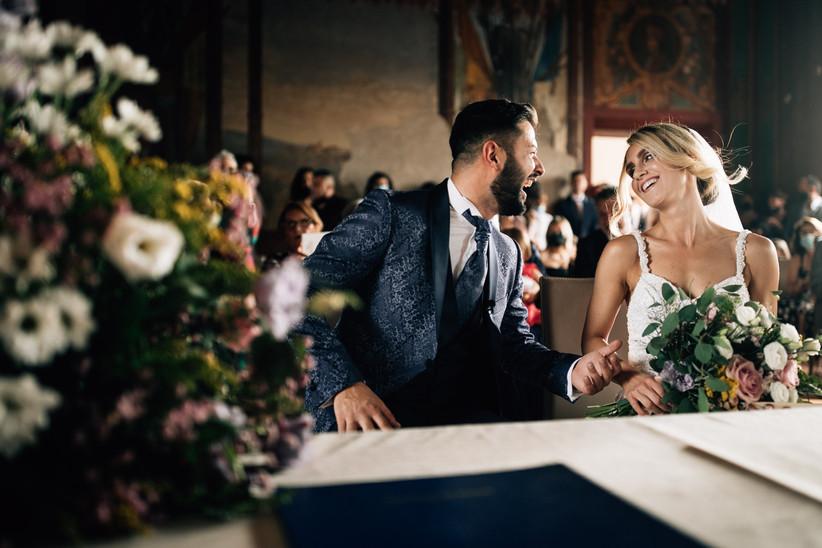 Sposi durante il rito civile