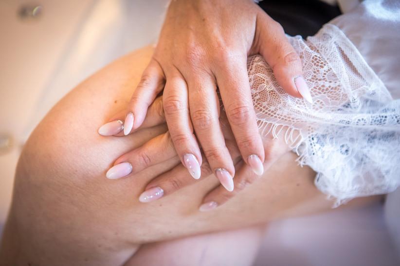 unghie sposa forma a mandorla