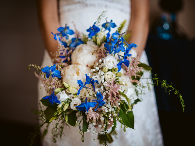 30 idee per allestire le vostre nozze in blu