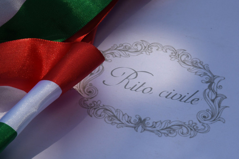 dettaglio bandiera italiana