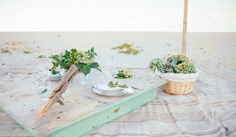 picnic sulla spiaggia