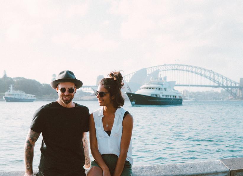 sposi in viaggio di nozze in australia
